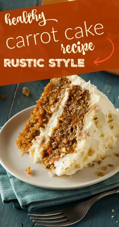 Check out this healthy carrot cake recipe, made rustic style with wholesome ingredients - at livingthenourishedlife.com
