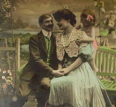 Romantic French Unused Postcard Open Your Heart to by ChicEtChoc, $5.00
