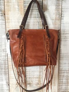 30cf12a8ddb5 Items similar to Fringe leather bag