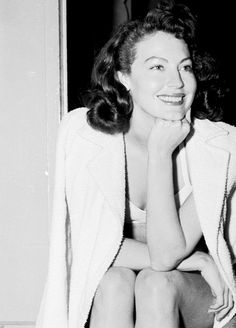 Ava Gardner on the set of The Bribe (1949)