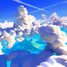 Cloudy Clouds, Thorsten Denk on ArtStation at https://www.artstation.com/artwork/21W8J