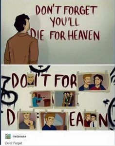 Dean Winchester The angel Castiel supernatural the Simpsons do it for her