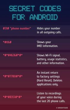 Codes For Android The for There are the most insane key combinations that will give you access to the all hidden functions of your included.Android Android may refer to: Life Hacks Websites, Hacking Websites, Hacking Tricks, Learn Hacking, Android Secret Codes, Android Codes, Iphone Codes, Iphone Secret Codes, Simple Life Hacks