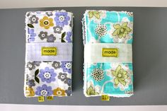 Adorable tutorial from Dana on handmade baby burp cloths. Thinking these might work great with upcycled t-shirt fabric + chenille. As always, I love her fabric choices and photos.