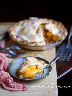 Mountain Peach Pie is probably the best pie I've ever made! #recipe on foodiecrush.com