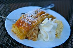 Easy version of German Apple strudel made with puff pastry