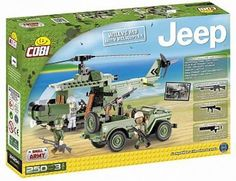 250 PCS JEEP /24254/ WILLYS MB WITH HELICOPTER  st