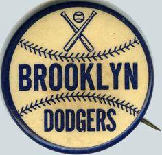 Brooklyn Dodgers - Souvenir pin sold at Ebbetts Field Dodgers Fan, Dodgers Baseball, Baseball Art, Baseball Players, Brooklyn, Sports Advertising, Dodger Blue, Los Angeles Dodgers, Sports Logo
