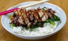 teriyaki chicken and sushi rice