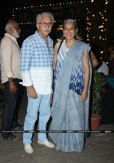 Naseeruddin Shah and Ratna Pathak Shah caught the show. Ratna Pathak, Kunal Kapoor, Kapoor And Sons, Naseeruddin Shah, Shashi Kapoor, Short Film Festivals, Bollywood Photos, Elegant Styles, About Time Movie