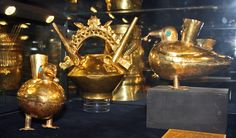 """Photos taken from """"The Curse of Gold – 1000 Years of Inca Gold"""" exhibit byKarelj.The artifacts date from400B.C. to 1500A.D.  Courtesy the Peru Gold Museum-Museo Oro del Perú, Lima."""