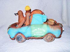 """Mattel Disney Pixar Cars Talking & Joking 12"""" Tow Mater Soft Plush Tow Truck EUC #Mattel"""