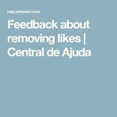 Feedback about removing likes | Central de Ajuda