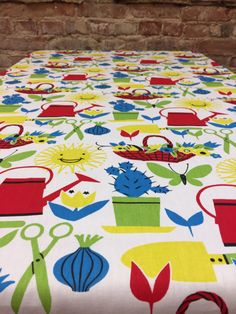 Colorful spring tablecloth, modern style, variegated table, sunny tablecloth,home decor by SiKriDream on Etsy