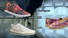 #Desigual Schuhe - Modelle Queen, Funk Lacy und Gabriela. Muster: floral, ethnisch, exotisch und Mandala, bunt.