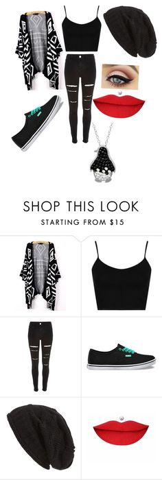"""""""Untitled #41"""" by pufferfishgal on Polyvore featuring Topshop, River Island, Vans, David & Young, Anastasia Beverly Hills and Amanda Rose Collection"""