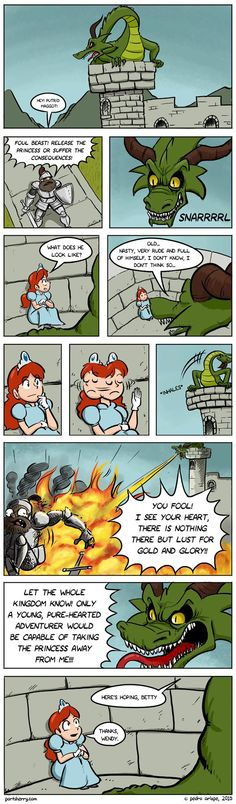 Those sneaky princesses and dragons…