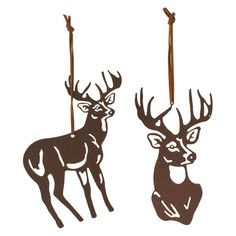 Deer Ornament Set Of 2, $6, now featured on Fab.