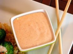 How to Make Japanese Steakhouse White Sauce - Shrimp Sauce - Yum Yum Sauce - Sakura Sauce - You Finally Found The Recipe! This was delicious! Could cut back on the mayonnaise a little bit:) Think Food, I Love Food, Sauce Recipes, Cooking Recipes, Dog Recipes, Recipies, Do It Yourself Food, Great Recipes, Favorite Recipes