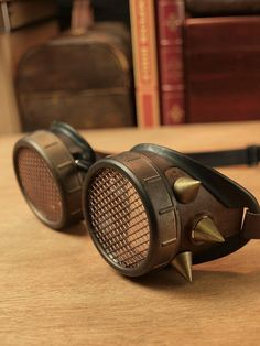 Goggles with spikes by CostureroReal on Etsy