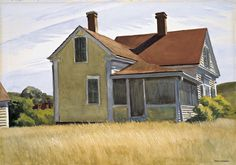 Edward Hopper (American, American Realism, 1882-1967): Marshall's House, 1932. Watercolor over graphite on paper