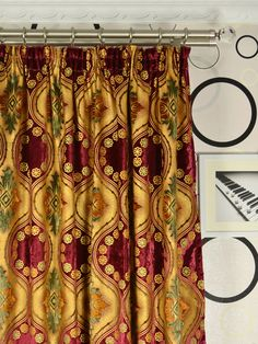 Add a little opulence to any room you dare with these stunning vintage velvet curtains. Curtain Headings, Pencil Pleat, Velvet Curtains, Vintage Velvet, Damask, Geometric Patterns, Floral, Style, Swag