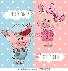 Baby shower greeting card with cute pigs Vector Image Baby Shower Greetings, Baby Shower Greeting Cards, Boy Cartoon Drawing, Duck Drawing, Pig Baby Shower, Pig Illustration, Pig Art, Baby Pigs, Cute Pigs