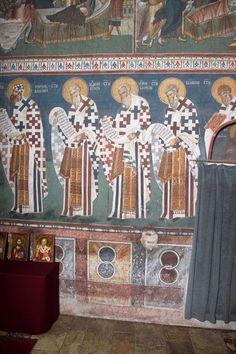 The Visoki Dečani monastery, Kosovo, c. Byzantine Icons, Religious Icons, Leeds, Fresco, Culture, Baseball Cards, Interiors, Painting, Murals