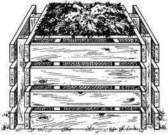 pallet compost bin and compost tips Pallet Crafts, Diy Pallet Projects, Outdoor Crafts, Outdoor Projects, Organic Gardening, Gardening Tips, Garden Compost, Vegetable Garden, Pallette