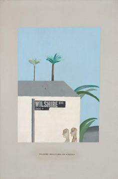 David Hockney: 'Wilshire Boulevard, Los Angeles', 1964 (acrylic on canvas) David Hockney Artist, David Hockney Paintings, Contemporary Artists, Modern Art, Picasso, Pop Art Movement, Plant Illustration, Gcse Art, Branding