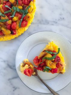 Sweet Corn, Roasted Garlic + Roasted Cherry Tomato Tart Recipe (Gluten Free, Vegan)