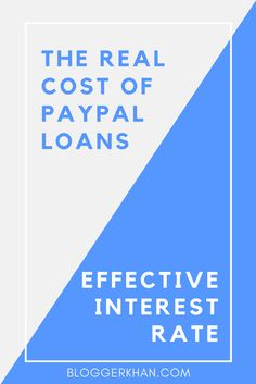 Are you planning on taking a PayPal loan but a little confused by what the interest rate is. You are not alone. PayPal has been very aggressively promoting fixed cost business loans to its business account holders.  Learn more about it here: http://bloggerkhan.com/the-real-cost-of-paypal-loans-effective-interest-rate/18856?utm_campaign=crowdfire&utm_content=crowdfire&utm_medium=social&utm_source=pinterest  #paypal #entrepreneurship #entrepreneur #digitalmarketing #ecommerce #freelancing…