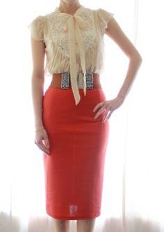 midi pencil skirt - Google Search