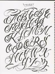 Resultado de imagen para caligrafia abecedario