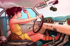 Illustration: Indie Girl Cruzin