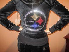 Pittsburgh Steelers Rhinestone Bling Track Suit by Bellanahbling, $42.00