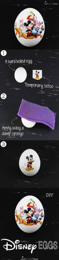 How to make Disney Eggs for Easter! This craft is SO EASY! | smartschoolhouse.com |#Disney