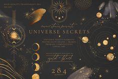 Universe Secrets Illustration Bundle by Cosmic Stories Studio on @creativemarket