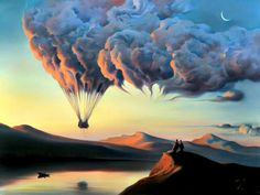 """Metamorphosis"" by Surrealist painter, Vladimir Kush"