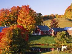 Jenne's Farm in Autumn, Vermont One on the most photographed farms in America.