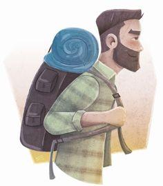 viajante. Ilustra para calendário