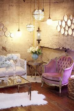 so much to love about this shot…the wall texture, worn floors, vintage decor/furniture and overall stylish look