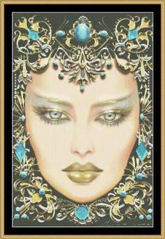 Image detail for -December, Turquoise de Maxine Gadd (Mystic Stitch) - El arte ...