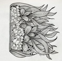 i like the flickr acct. this is on.  It shows many, many more examples of zentangle art.