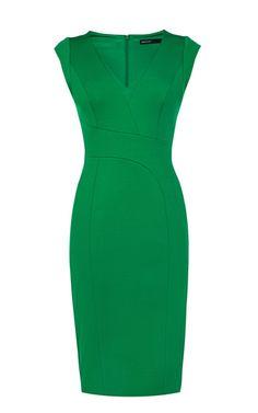 Oh, I do so love green. Karen Millen Structured Pencil Dress