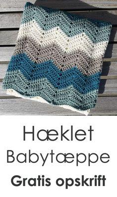 Lækkert tæppe til træmmesengen eller til hygge i sofaen. Lavet i det smukke zigzag-mønster. Du kan finde opskrift samt videoguide på luksuskrea.dk #hækletbabytæppe #hækletzigzagtæppe #hæklettæppe #hækle #diybaby #crochetblanket #crochetbabyblanket #crochetrippleblanket #crochetbabyboy #babyboyblanket Crochet Books, Diy Crochet, Crochet Baby, Crochet Designs, Crochet Patterns, Yarn Color Combinations, Baby Barn, Manta Crochet, Baby Afghans