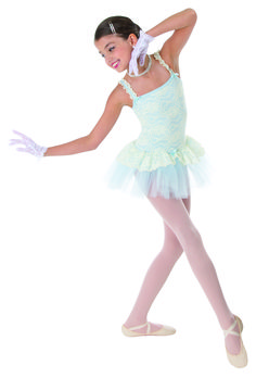 Little ones love costumes that look like their favorite princess dresses, like this lace-covered look by Body Wrappers Angelo Luzio. #FashionFriday