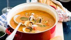 Manhattan clam chowder, clams recipe, brought to you by Australian Women's Weekly