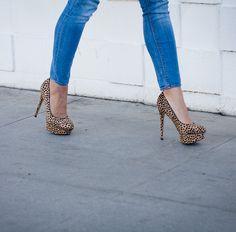 {Jess platform heel in Dalmatian Print} hello!