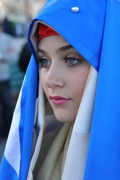 World Ethnic & Cultural Beauties — Sardinian People - Italian Beautiful Muslim Women, Beautiful Hijab, Beautiful Eyes, Arab Girls, Muslim Girls, Girl Face, Woman Face, Sardinian People, Iranian Beauty